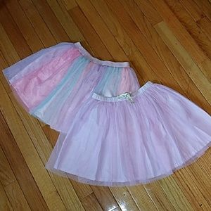 Girls multicolor and lavender tulle skirt